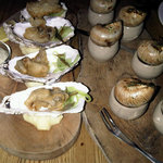 The Starters - snails and deep fried rock oysters
