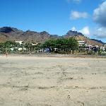 Resort seen from the beach