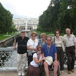 In Peterhof with an Israeli family party, 2009
