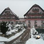l'Hôtel des Vosges sous la neige