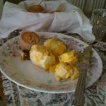 Eggs on a Cloud and gourmet muffins