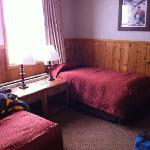 Our Alpine room with two twin beds on the first floor