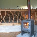 the refugio is heated up by stoves