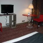 Another view of the minimalist furnishings in the hotel rooms.