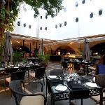Flamboyante courtyard