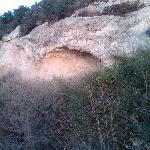 A Cave catching the last of the sun.  Elijah's?