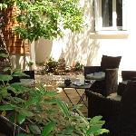 Petit salon au jardin....