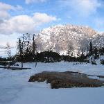am Seebensee mit Blick zum Zugspitzmassiv