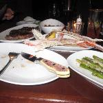 Not the best picture... we know. King crab and other dinner delicacies!