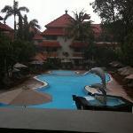 White Rose Hotel pool area