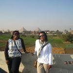 A beautiful place with a view of Giza Pyramids & an Oasis.