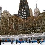 The Bryant Park Christmas Ice Rink