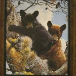 Cute Alpine Village bear decor.