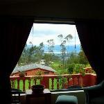 vue du salon du lac San Pablo