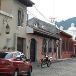 the entrance of La Villa Serena