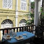 breakfast from the balcony