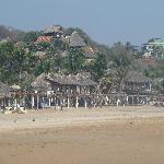 Beach area in Zipolite