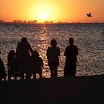 Sunset looking towards Cancun
