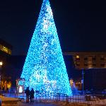 21-meter/70ft Christmas tree on rue St-Joseph (St-Roch area)