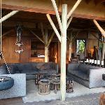Lounge beim Restaurant