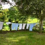 Eileen's clean linens hung to dry