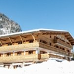 Depart et arrivee skis au pieds