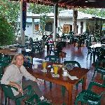 Open air Dinning area serves meals and drinks from 6:30am til 8:00pm!!!