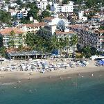 I shot this view of hotels beach front from parachute