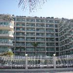 Strandseite des Hotels