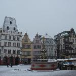 Trier, Hauptmarkt in Winter, Dec 2010