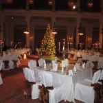 concert hall set for xmas day