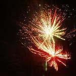 Fogos de artifício na passagem de ano no Parque Oceanico