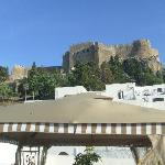 View of Acropolis from roof terrace