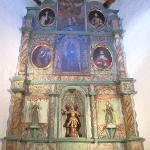 Altar piece in San Miguel Mission