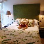 The bedroom at the Trumpeter cottage