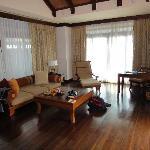 Wohnzimmer, schon etwas in die Jahre gekommen