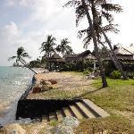Privatstrand für die Beachvillen