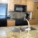 A kitchen in one of our rental condos