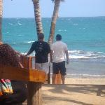 Vista del Restaurante hacia la Playa