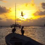 Sunset in the beach next to El Botuto