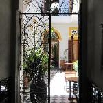 Entranceway - view to the courtyard - fantastic!