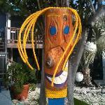 Funky yard art