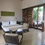2 day beds on terrace, 1 at plunge pool and 1 in bedroom