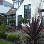 Front of Guest house with beautiful gardens
