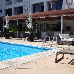 Pool cabana area Hotel Napolitano