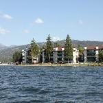 Lagonita Lodge from a pontoon