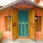 The kitchen's back door