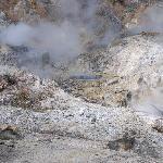 Volcano and sulphur springs
