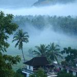 Early morning mist in the valley of Tengenan, Candi Dasa