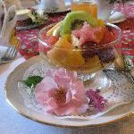 wonderful breakfast with lovely decoration